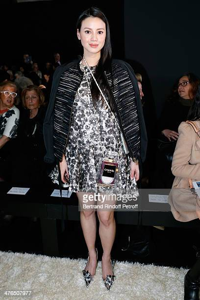 Tina Leung attends the Giambattista Valli show as part of the Paris Fashion Week Womenswear Fall/Winter 20142015 on March 3 2014 in Paris France