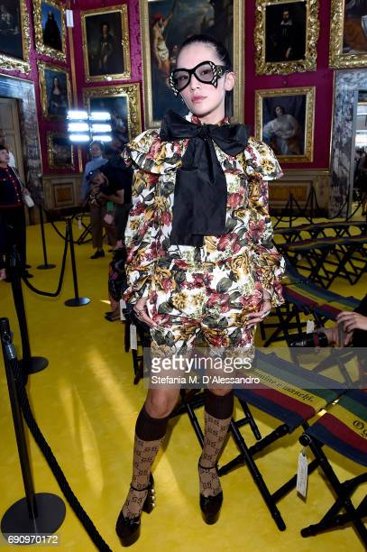 Tina Leung attends the Gucci Cruise 2018 fashion show at Palazzo Pitti on May 29 2017 in Florence Italy