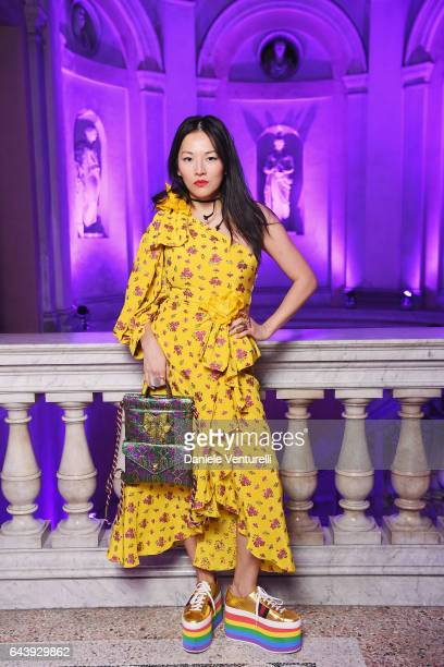Tina Leung attends the Gucci event during Milan Fashion Week Fall/Winter 2017/18 on February 22 2017 in Milan Italy