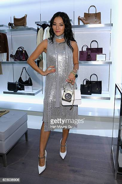 Tina Leung attends the Michael Kors Cheongdam Flagship Store Opening Cocktail Party on November 12 2016 in Seoul South Korea