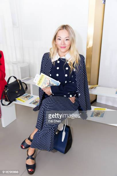 Tina Leung attends the Michael Kors Collection Fall 2018 Runway Show at the Vivian Beaumont Theatre on February 14 2018 in New York City