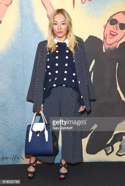 Tina Leung attends the Michael Kors fashion show during New York Fashion Week at Vivian Beaumont Theatre on February 14 2018 in New York City
