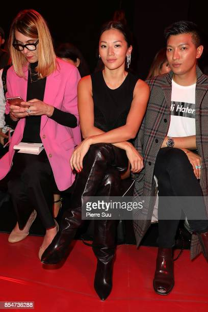 Tina Leung attends the Rochas show as part of the Paris Fashion Week Womenswear Spring/Summer 2018 on September 27 2017 in Paris France