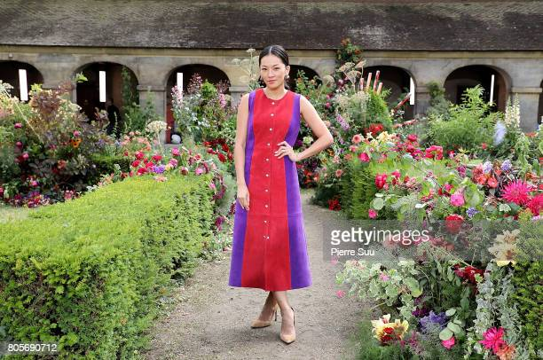 Tina Leung attends the Rodarte Haute Couture Fall/Winter 20172018 show as part of Haute Couture Paris Fashion Week on July 2 2017 in Paris France