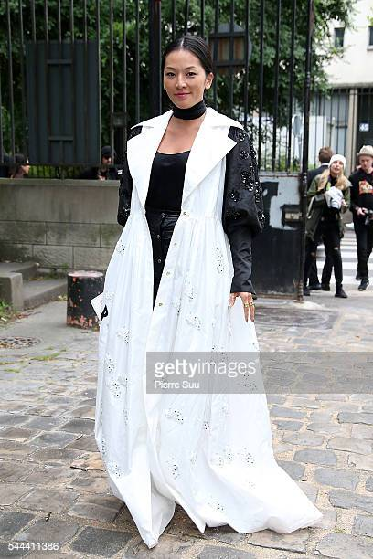 Tina Leung attends the Ulyana Sergeenko Haute Couture Fall/Winter 20162017 show as part of Paris Fashion Week on July 3 2016 in Paris France