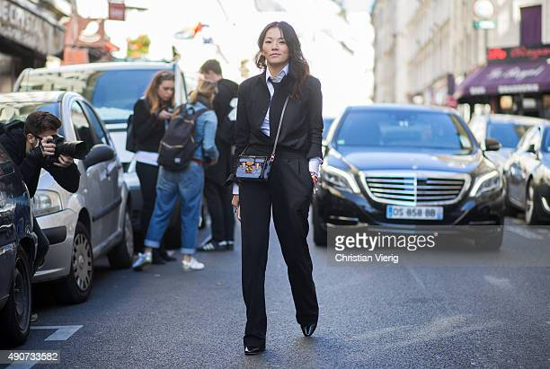 Tina Leung during Paris Fashion Week Womenswear Spring/Summer 2016 on September 30 2015 in Paris France