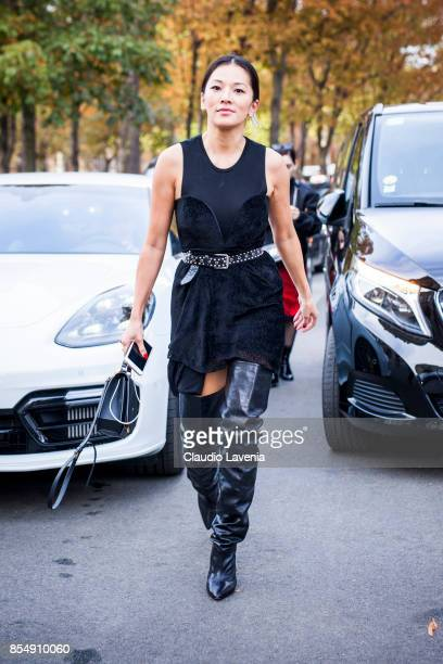 Tina Leung is seen before the Rochas show at the Pavillion Ledoyen during Paris Fashion week Womenswear SS18 on September 27 2017 in Paris France