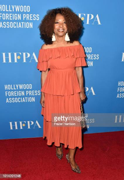 Tina Lifford attends the Hollywood Foreign Press Association's Grants Banquet at The Beverly Hilton Hotel on August 9 2018 in Beverly Hills California