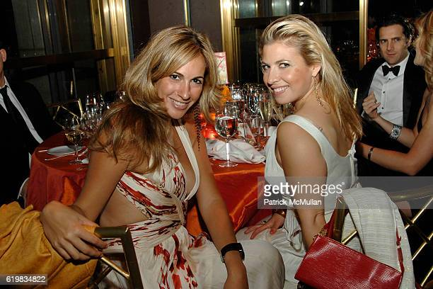 Tina Livanos and Elizabeth Jacoby attend Annual Gala of THE HISPANIC SOCIETY OF AMERICA at The Rainbow Room on October 2 2008 in New York City