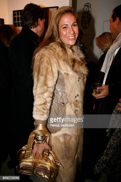 Tina Livanos attends Opening reception for ANDREA TESE Boats Against the Current at Heist Gallery on February 13 2009 in New York City