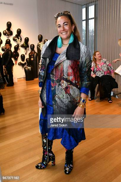 Tina Livanos attends The Museum of Arts and Design Presents LOOT MAD About Jewelry on April 16 2018 at the Museum Of Arts And Design in New York City