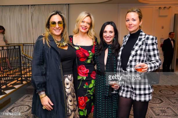 Tina Livanos, Leticia Presutti, Natalia Torres and Julia Kiel attend Central Park Conservancy's 2020 Winter Luncheon at 583 Park Avenue on January...