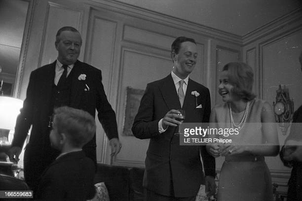 Tina Livanos Marries The Marquis Of Blandford A Paris dans un salon lors du mariage de la grecque Tina LIVANOS avec le britannique John marquis DE...