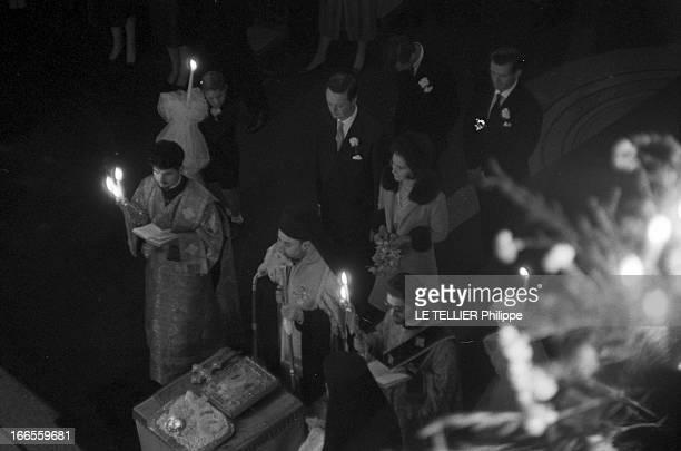 Tina Livanos Marries The Marquis Of Blandford A Paris dans un temple orthodoxe lors de leur mariage la grecque Tina LIVANOS et le britannique John...