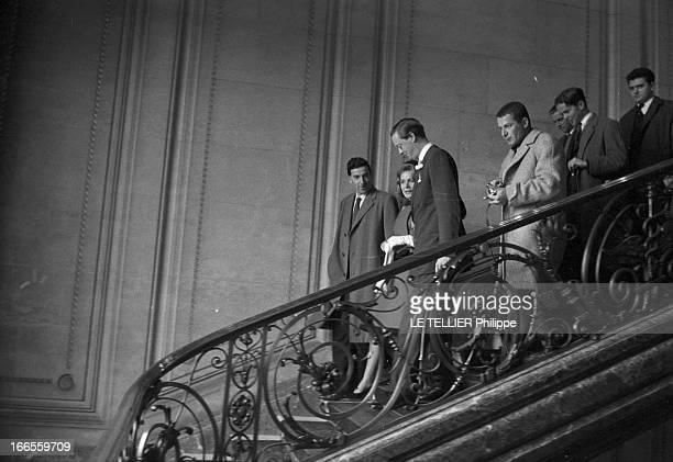 Tina Livanos Marries The Marquis Of Blandford A Paris dans une mairie lors du mariage de la grecque Tina LIVANOS avec le britannique John marquis DE...