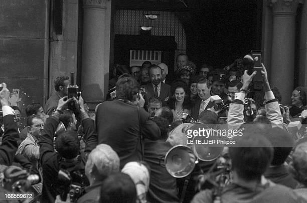 Tina Livanos Marries The Marquis Of Blandford A Paris lors de leur mariage la grecque Tina LIVANOS et le britannique John marquis DE BLANDFORD...