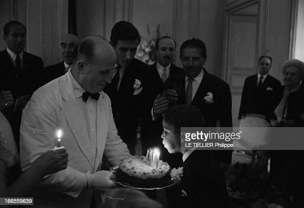 Tina Livanos Marries The Marquis Of Blandford A Paris lors du mariage de la grecque Tina LIVANOS avec le britannique John marquis DE BLANDFORD un...