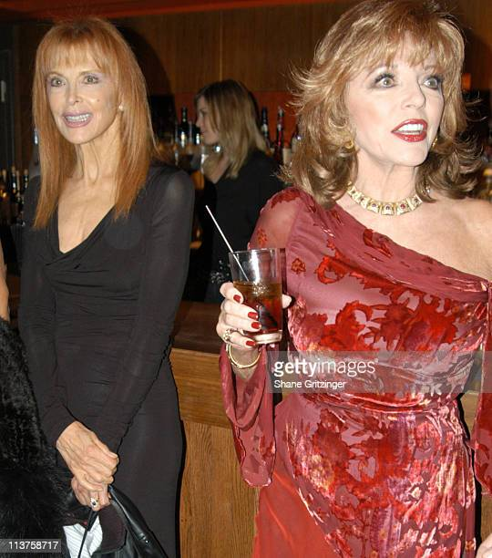 Tina Louise and Joan Collins during 'Welcome Back to New York Joan Collins' Cocktail Reception Hosted by Andy Unanue at AER in New York City New York...