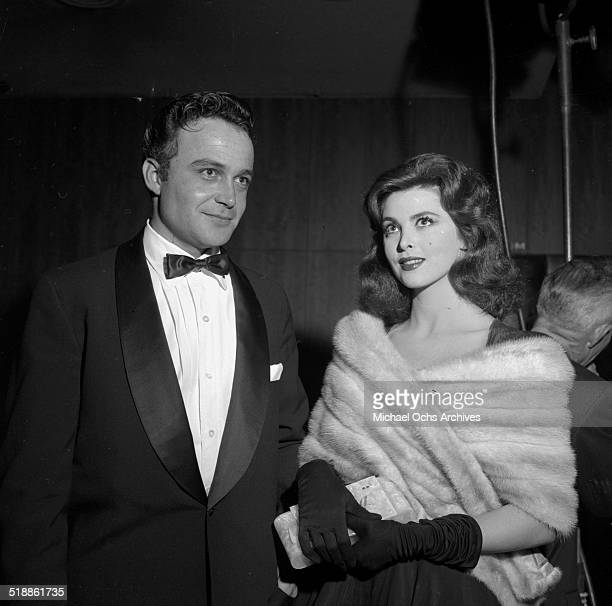 Tina Louise and Lance Fuller attend the WAIF Ball on November 91957 in Los AngelesCA