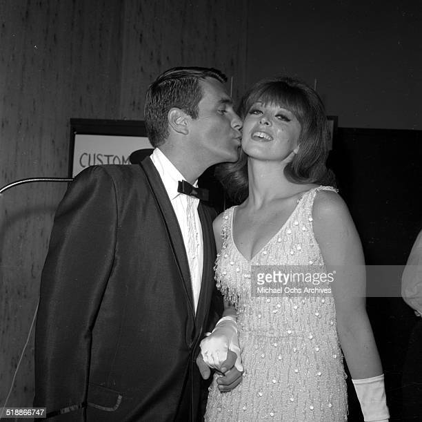 Tina Louise and Les Crane attends a party in Los AngelesCA