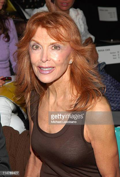Tina Louise during Olympus Fashion Week Spring 2007 Rosa Cha Front Row and Backstage at The Tent Bryant Park in New York City New York United States