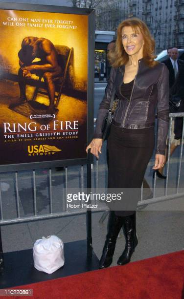 Tina Louise during 'Ring of Fire The Emile Griffith Story' New York City Premiere Arrivals at Beekman Theater in New York City New York United States