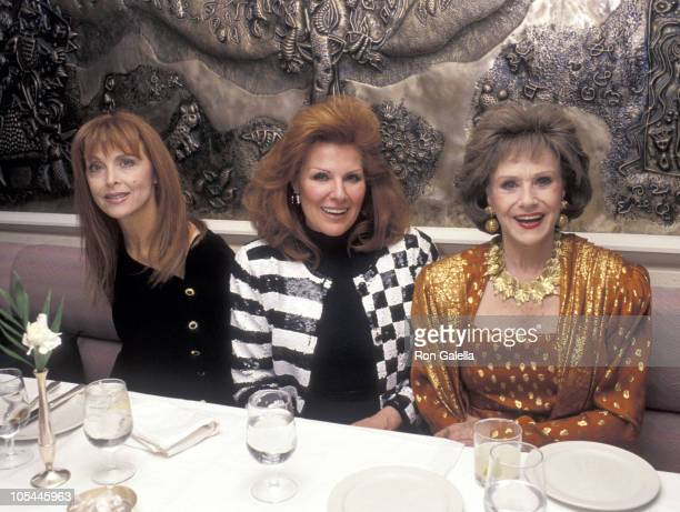 Tina Louise guest and Ruth Warrick during The Jewel of India Restaurant Grand Opening at The Jewel of India Restauarnt in New York City New York...
