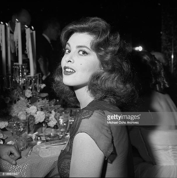 Tina Louise poses at the WAIF Ball on November 91957 in Los AngelesCA