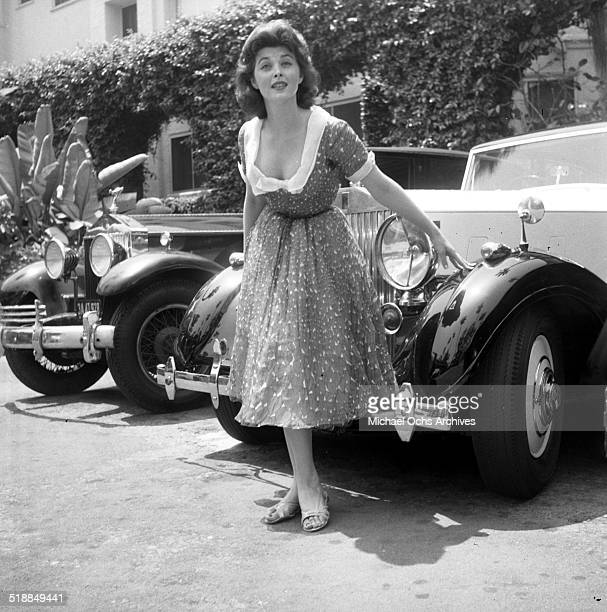 Tina Louise poses with cars in Los AngelesCA