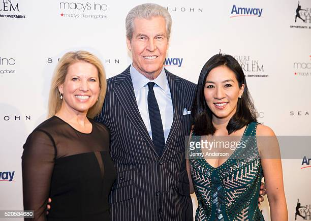 Tina Lundgren Terry Lundgren and Michelle Kwan attend 11th Annual Skating With The Stars Gala at 583 Park Avenue on April 11 2016 in New York City