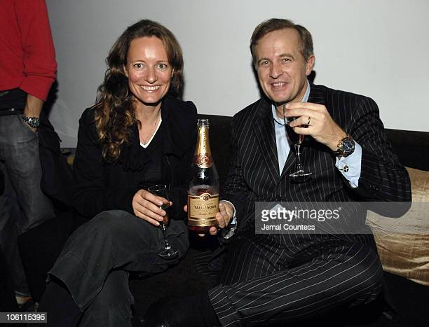 Tina Lutz and Jerome N Jeandin of Taittinger during MOJO on INHD Launch Party at Sky Studios in New York City New York United States