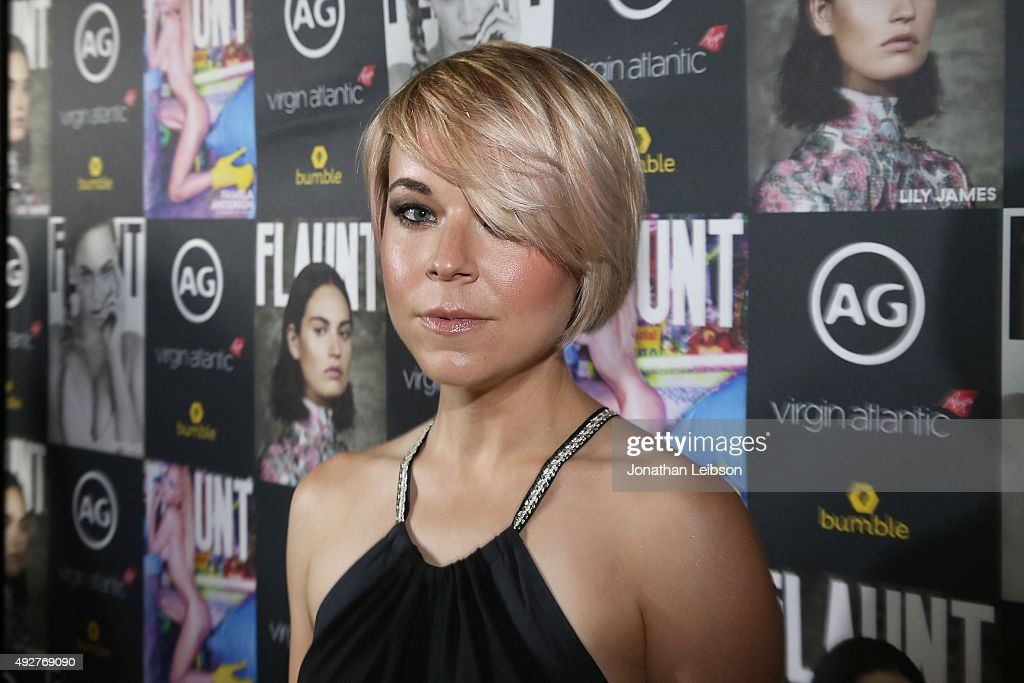 Tina Majorino attends the Flaunt Magazine And AG Celebrate The LA launch Of The CALIFUK Issue At The Hollywood Roosevelt at Hollywood Roosevelt Hotel on October 14, 2015 in Hollywood, California.