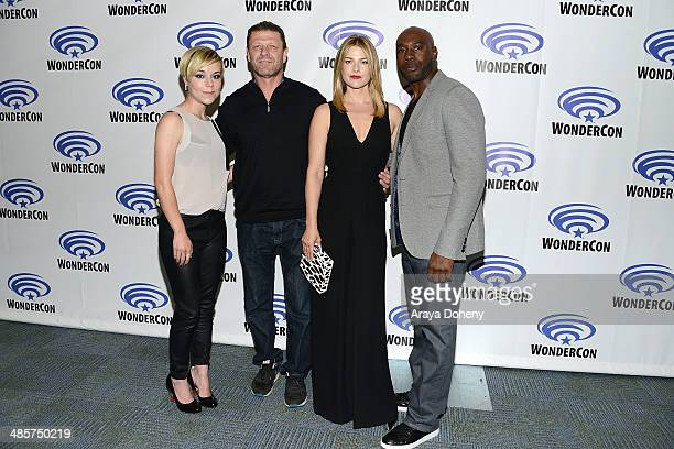 Tina Majorino Sean Bean Ali Larter and Morris Chestnut attend the Legends paress line at WonderCon Anaheim 2014 Day 2 at Anaheim Convention Center on...
