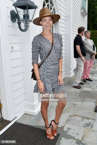 Tina Marie Clark attends Katrina and Don Peebles Host NY Mission Society Summer Cocktails at Private Residence on July 7 2017 in Bridgehampton New...