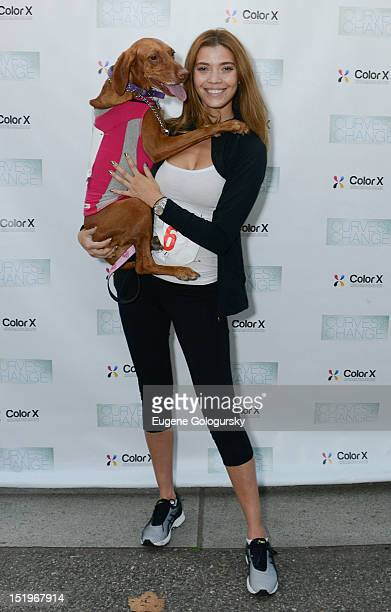 Tina Marie Clark attends the 2012 Curves For Change 5k Run/Walk Race at 103rd Street and Riverside Drive on September 13 2012 in New York City