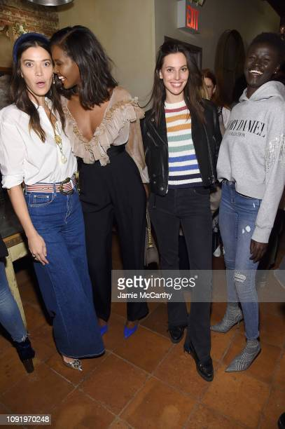 Tina Marie Clark Ubah Hassan Ruby Aldridge and Khoudia Diop attend as Aerie celebrates #AerieREAL Role Models in NYC on January 31 2019 in New York...
