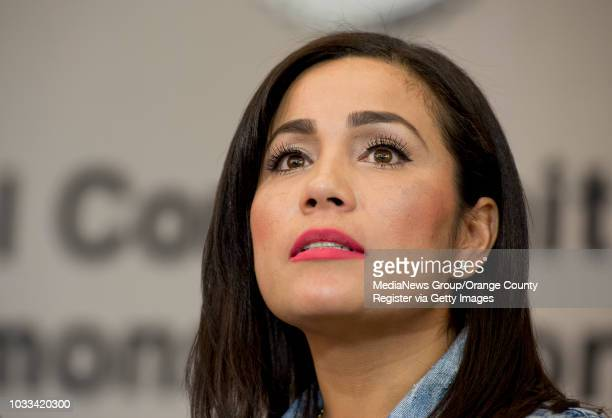 Tina Marie Costa speaks to the media during a press conference to discuss how through their DNA they were able to match and identify the remains of...