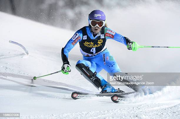 Tina Maze of Slovenia competes during the Audi FIS Alpine Ski World Cup Women's Slalom on December 20 2012 in Are Sweden