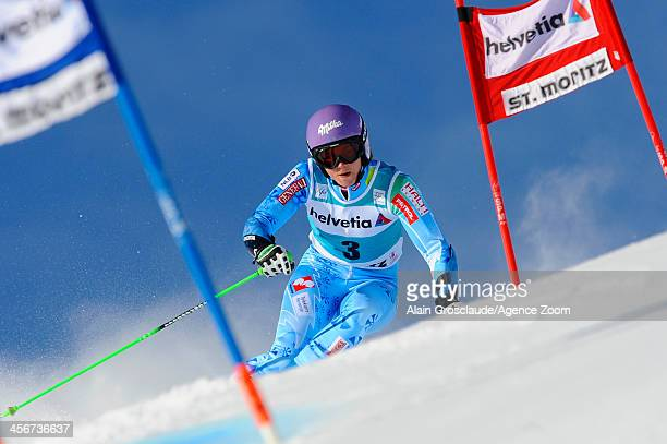 Tina Maze of Slovenia competes during the Audi FIS Alpine Ski World Cup Women's Giant Slalom on December 15 2013 in St Moritz Switzerland