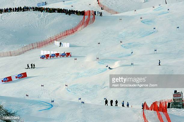 Tina Maze of Slovenia takes 1st place during the Audi FIS Alpine Ski World Cup Women's Giant Slalom on December 09 2012 in St Moritz Switzerland