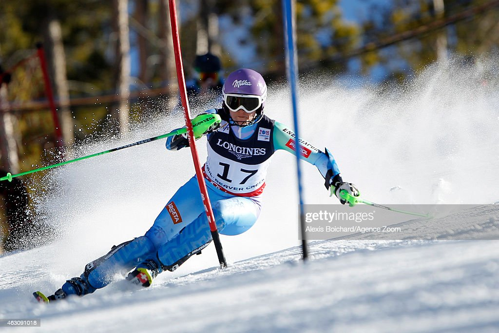 Tina Maze of Slovenia wins the gold medal during the FIS Alpine World Ski Championships Women's Super Combined on February 09, 2015 in Beaver Creek, Colorado.