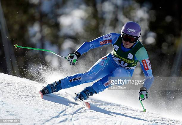 Tina Maze of Slovokia in action during day 2 of training on Raptor for the FIS Beaver Creek Ladies Downhill World Cup on November 27 2013 in Beaver...