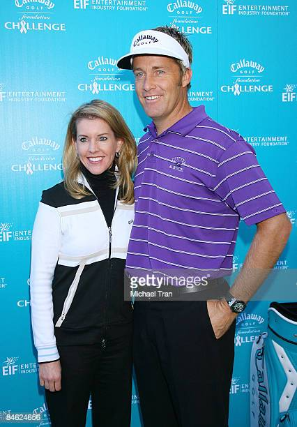 Tina Mickelson and Stuart Appleby arrive to the Callaway Golf Foundation ProCelebrity Golf Tournament benefitting EIF held at the Riviera Country...