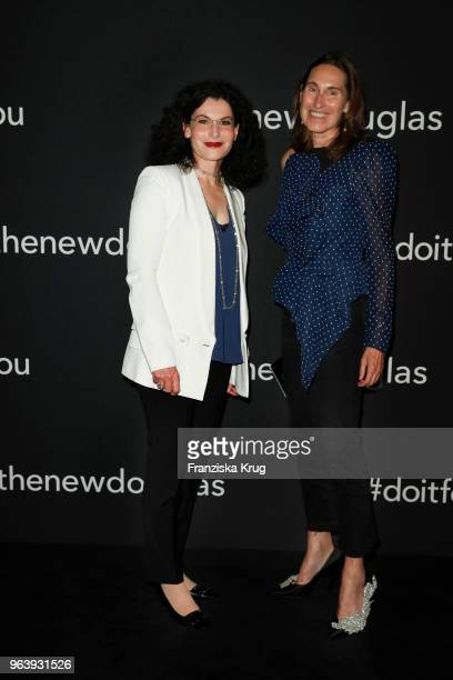 Tina Mueller and Annette Weber during the Douglas X Peter Lindbergh campaign launch at ewerk on May 30 2018 in Berlin Germany