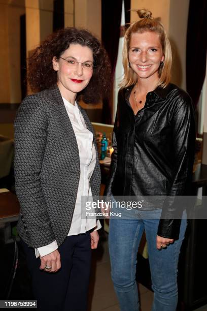 Tina Mueller and LeaSophie Cramer during the Douglas Beauty Lunch x Augustinus Bader at Gaertnerei Berlin on February 5 2020 in Berlin Germany