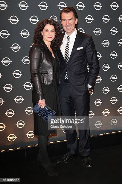 MUNICH GERMANY JANUARY Tina Mueller Philipp Welte attend the presentation and vernissage of the calender 'THE ADAM BY BRYAN ADAMS' for Opel at Haus...