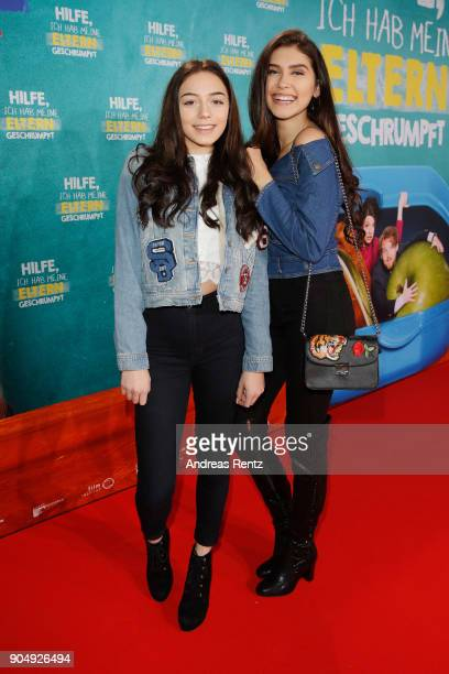 Tina Neumann and Ana Lisa Kohler attend the premiere of 'Hilfe ich hab meine Eltern geschrumpft' at Cinedom on January 14 2018 in Cologne Germany