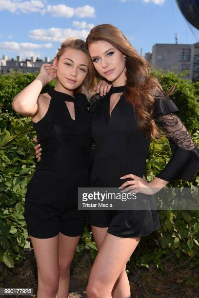 Tina Neumann and Emilia Bartoeck attend the Guido Maria Kretschmer show during the Berlin Fashion Week Spring/Summer 2019 at ewerk on July 2 2018 in...