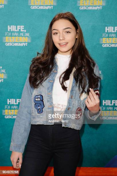 Tina Neumann attends the premiere of 'Hilfe ich hab meine Eltern geschrumpft' at Cinedom on January 14 2018 in Cologne Germany