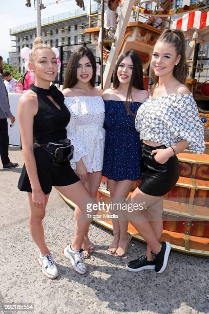 Tina Neumann Guelcan und Sahinur and Emilia Bartoeck attend the Marina Hoermanseder show during the Berlin Fashion Week Spring/Summer 2019 at ewerk...